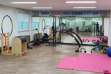 Picture of the Health Promotion Room Equipped with Musculoskeletal Exercise Equipment